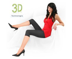 Capri Leggings Mandy 200 DEN 3D