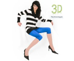 Capri Leggings Sandy 160 DEN 3D