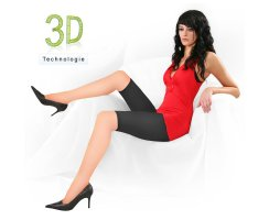 Radler Leggings 3D 100 DEN halbtransparent